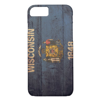 Old Wooden Wisconsin Flag iPhone 7 Case