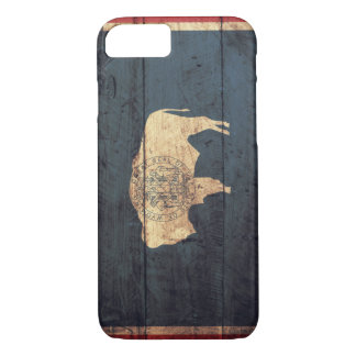 Old Wooden Wyoming Flag iPhone 7 Case