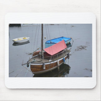 Old wooden yacht mouse mat