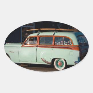 Old Woody Pontiac Oval Stickers