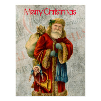 Old World Christmas Santa Postcard