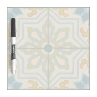 Old World Decorative Tile Pattern Dry Erase Board