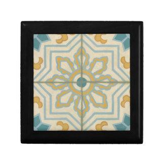 Old World Decorative Tile Pattern Gift Box
