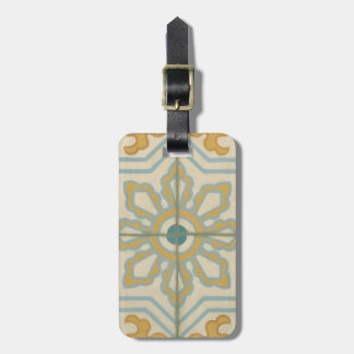 Old World Decorative Tile Pattern Luggage Tag