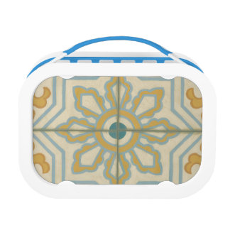 Old World Decorative Tile Pattern Lunch Box