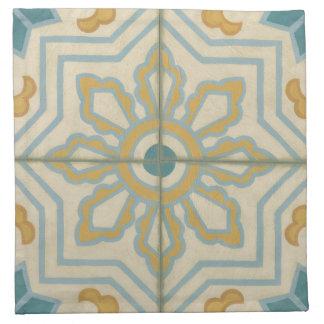 Old World Decorative Tile Pattern Napkin
