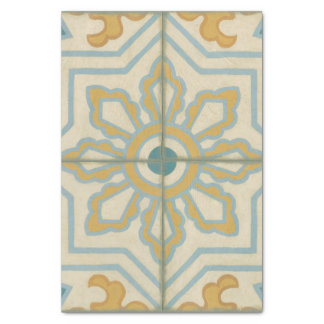 Old World Decorative Tile Pattern Tissue Paper