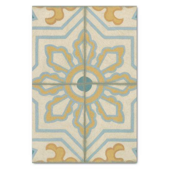 Old World Decorative Tile Pattern Tissue Paper