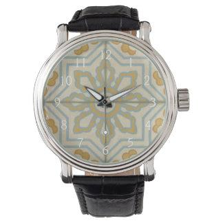 Old World Decorative Tile Pattern Watch