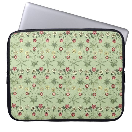 Old World Design Daisies In Mint Green Laptop