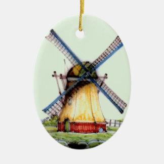 Old World Dutch Windmill Christmas Ornament
