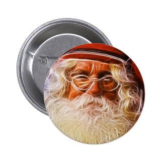 Old World Father Christmas Santa Claus Portrait 6 Cm Round Badge