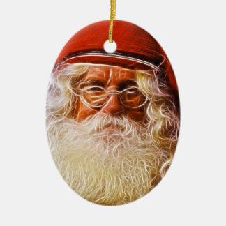 Old World Father Christmas Santa Claus Portrait Christmas Ornament
