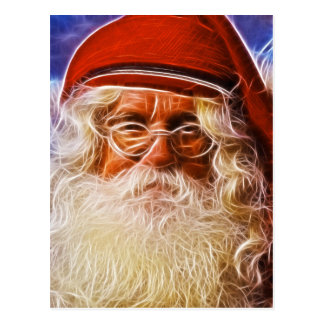 Old World Father Christmas Santa Claus Portrait Postcard