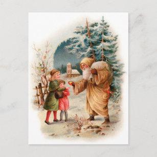 Old World German Santa Holiday Postcard