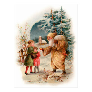 Old World German Santa Postcard
