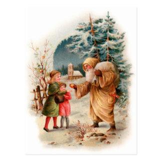 Old World German Santa Postcard