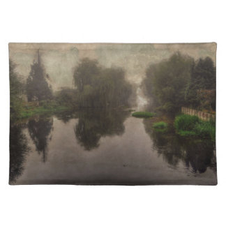 Old World Landscape Fine Art Painting Placemats