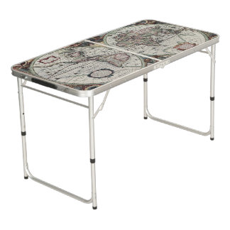 Old World Map 1630 Beer Pong Table