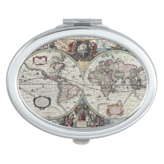 Old World Map 1630 Compact Mirror
