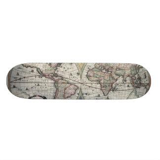 Old World Map 1630 Skate Board Decks