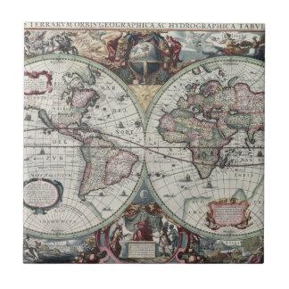 Old World Map 1630 Tile