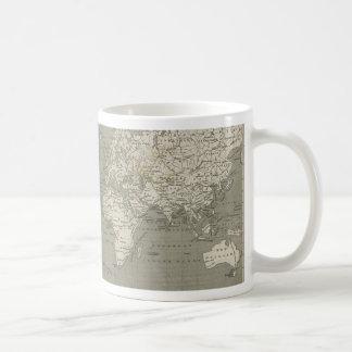 Old world map 1820 coffee mugs