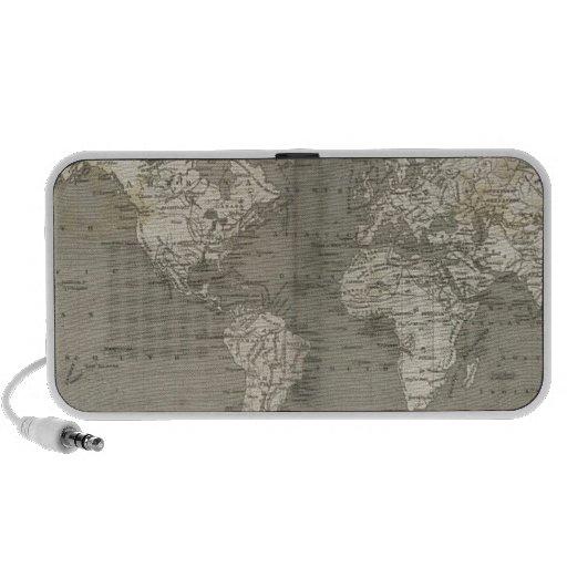 Old world map 1820 travel speaker