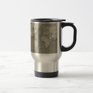 Old world map 1820 stainless steel travel mug