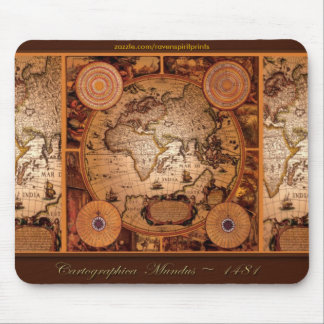 Old World Map Art - 1481 Mouse Mat