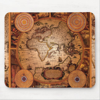 Old World Map Art - 1481 Mouse Pad