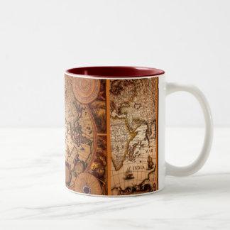 Old World Map Art - 1481 Two-Tone Mug