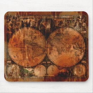 Old World Map Art Mousepad
