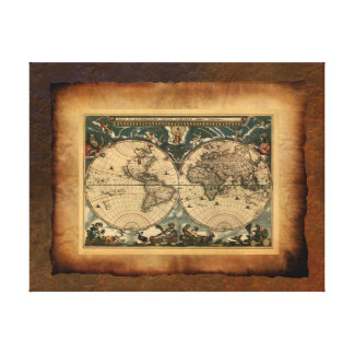 Old World Map Art Poster Canvas Print