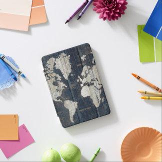 Old World Map Blue iPad Mini Cover