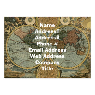 Old World Map Business Card