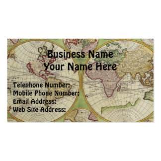 OLD WORLD MAP Business & Profile Cards Pack Of Standard Business Cards