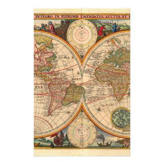 Old World Map by Nicolaas Visscher 14 Cm X 21.5 Cm Flyer