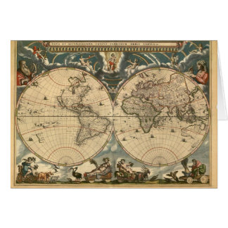 Old World Map - Card