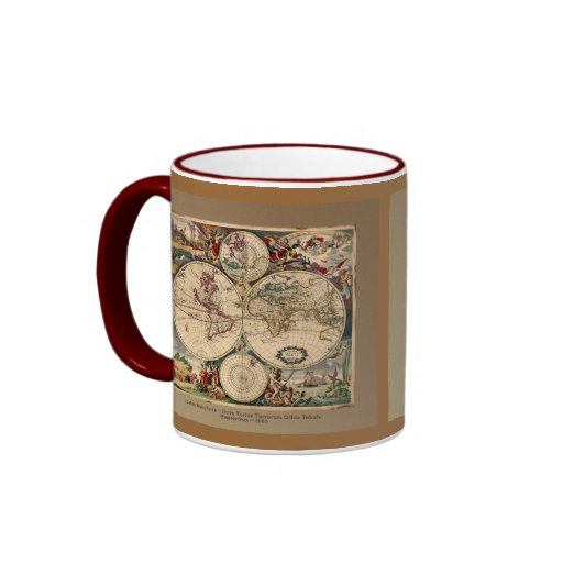 Old World Map Classc Gift Design Coffee Mugs