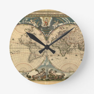 Old World Map - Clock