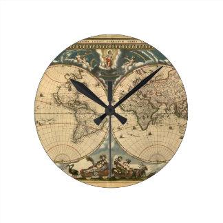 Old World Map - Clock