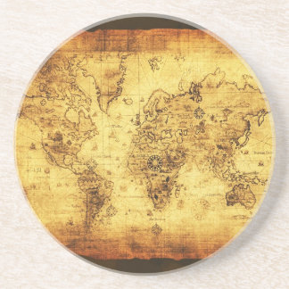 Old World Map Coaster