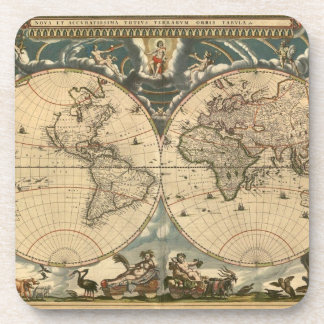 Old World Map - Cork Coaster