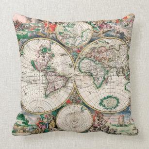 World map cushions decorative throw cushions zazzle uk old world map cushion gumiabroncs Images