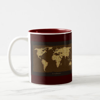 Old World Map Designer Gift Two-Tone Mug
