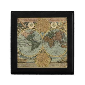 Old World Map Gift Box
