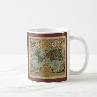Old World Map Gifts Basic White Mug