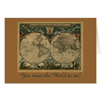 Old World Map Gifts Greeting Card