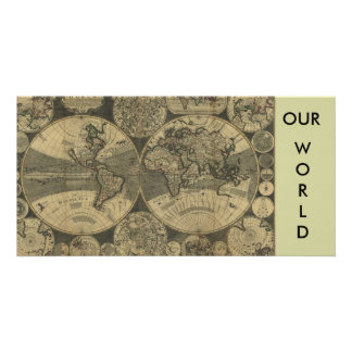 Old World Map gifts Photo Greeting Card